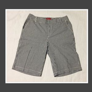 Gingham Bermuda shorts